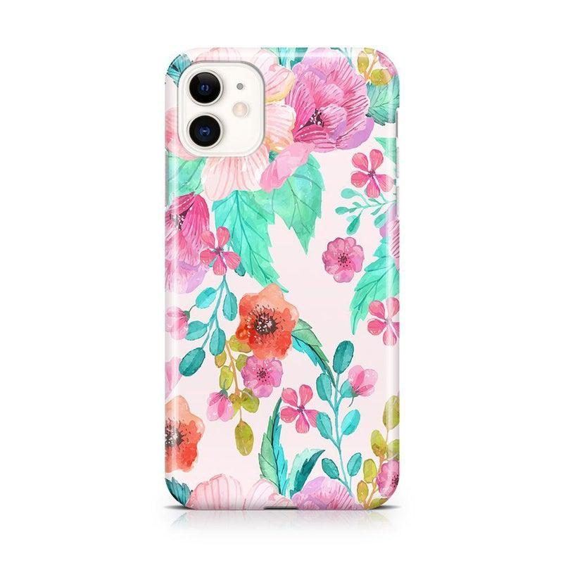 Out And About | Light Pink Floral Case iPhone Case get.casely Classic iPhone 11