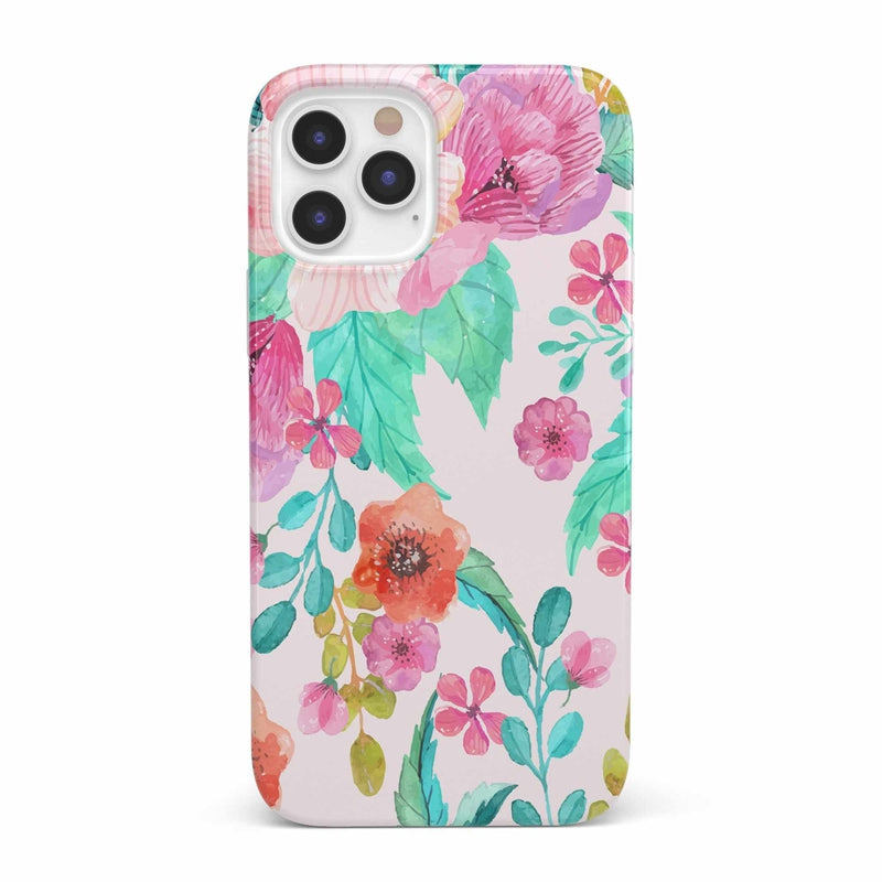 Out And About | Light Pink Floral Case iPhone Case get.casely Classic iPhone 12 Mini