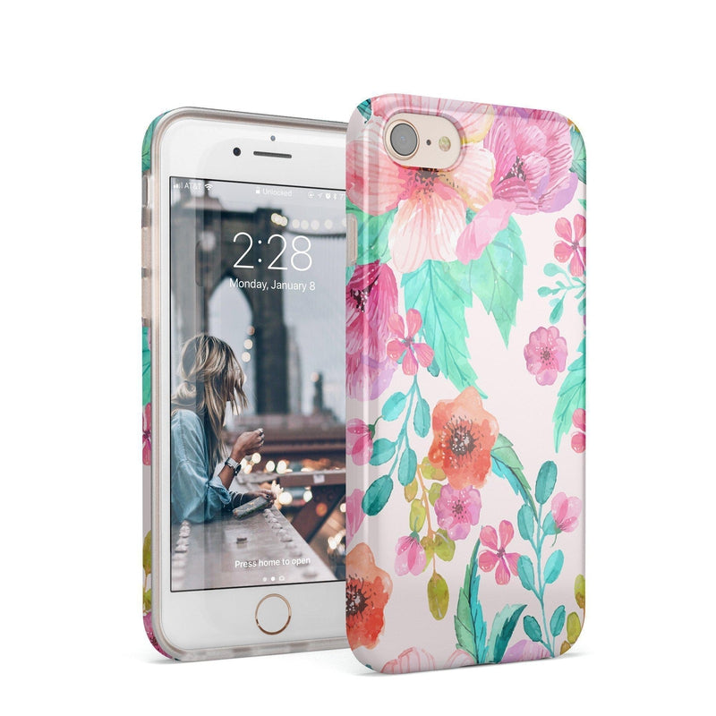 Out And About | Light Pink Floral Case iPhone Case get.casely Classic iPhone 8