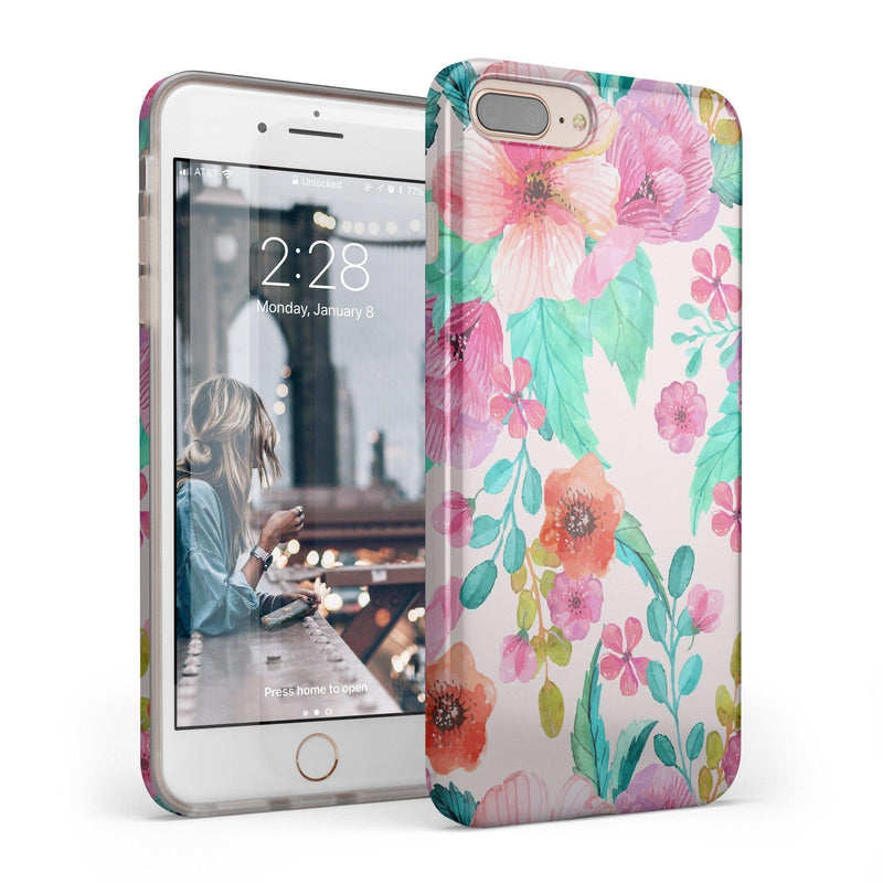 Out And About | Light Pink Floral Case iPhone Case get.casely Classic iPhone 8 Plus