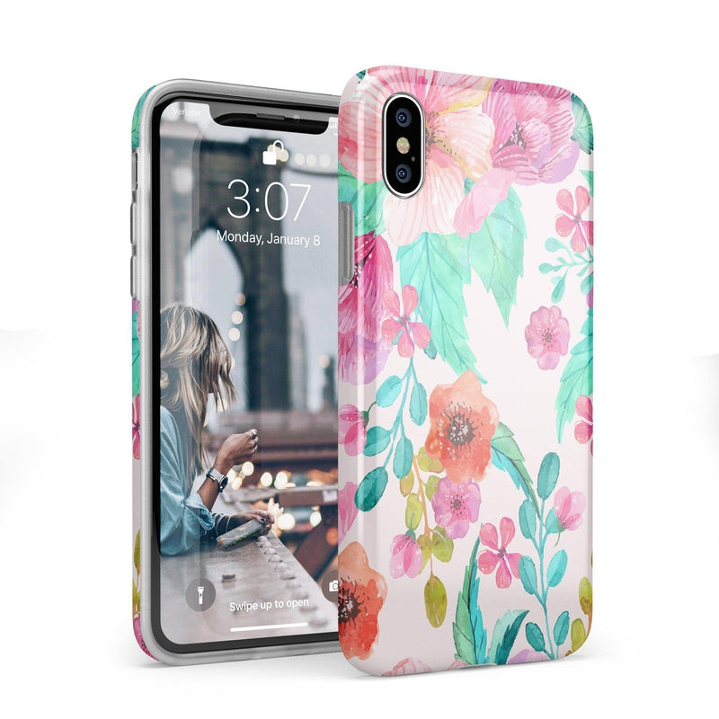 Out And About | Light Pink Floral Case iPhone Case get.casely Classic iPhone X / XS