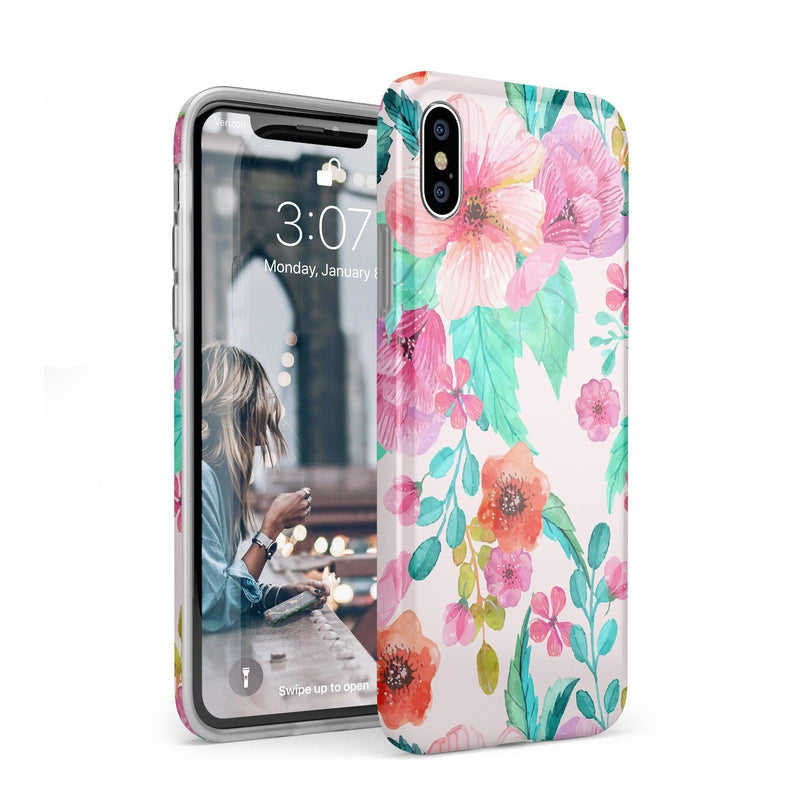 Out And About | Light Pink Floral Case iPhone Case get.casely Classic iPhone XS Max