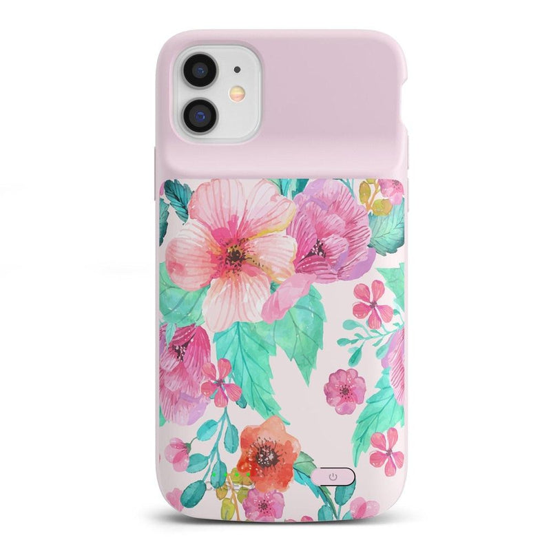Out And About | Light Pink Floral Case iPhone Case get.casely Power 2.0 iPhone 11