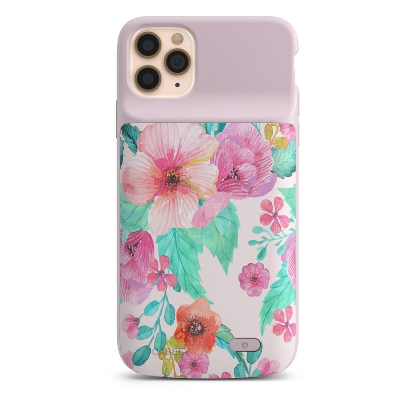 Out And About | Light Pink Floral Case iPhone Case get.casely Power 2.0 iPhone 11 Pro Max