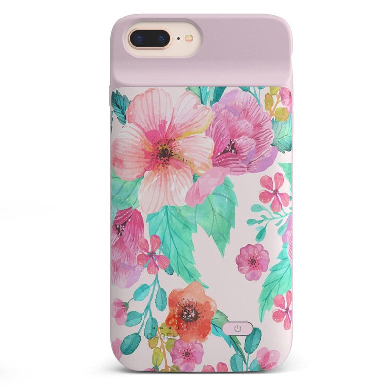 Out And About | Light Pink Floral Case iPhone Case get.casely Power 2.0 iPhone 8 Plus
