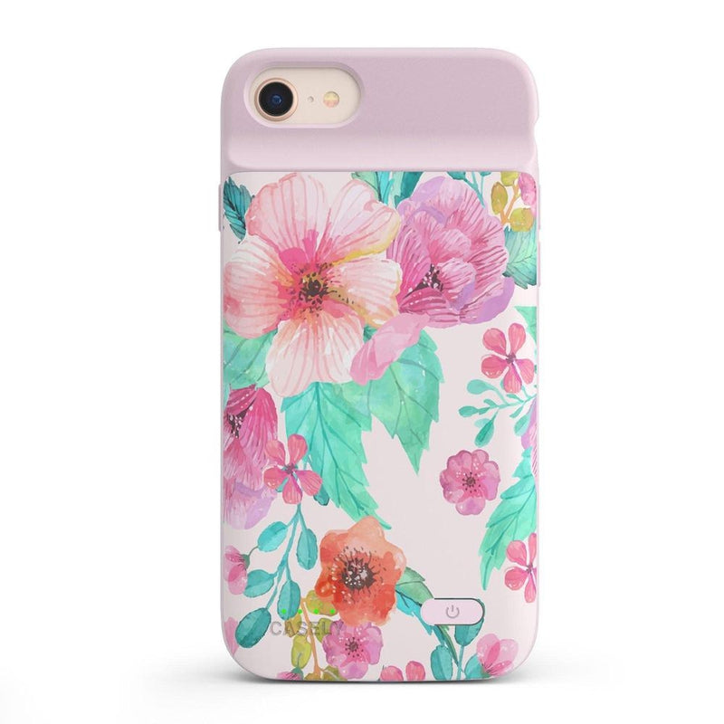 Out And About | Light Pink Floral Case iPhone Case get.casely Power 2.0 iPhone SE (2020)