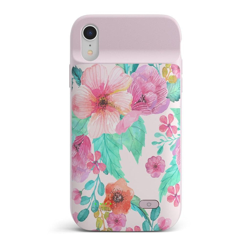Out And About | Light Pink Floral Case iPhone Case get.casely Power 2.0 iPhone XR