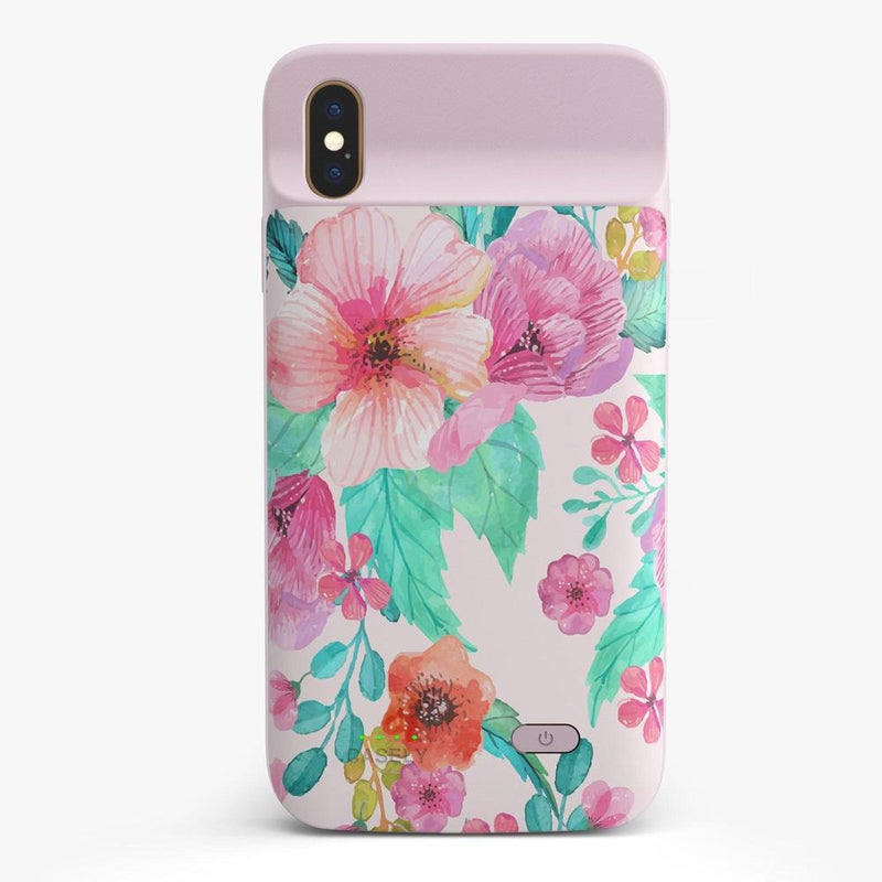 Out And About | Light Pink Floral Case iPhone Case get.casely Power 2.0 iPhone XS Max