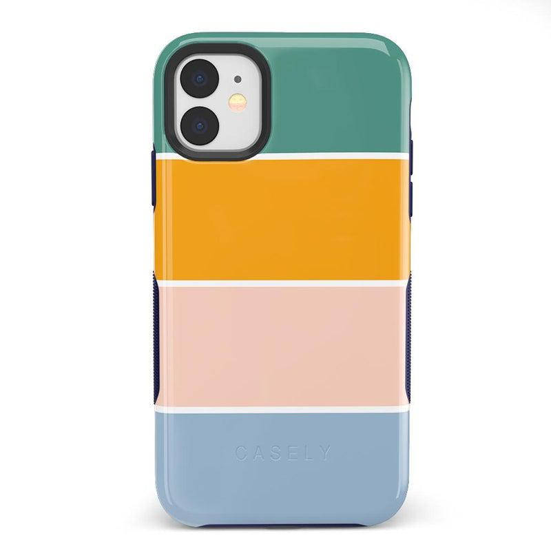 Paint The Town | Colorblock Stripes Case iPhone Case get.casely Bold iPhone 11