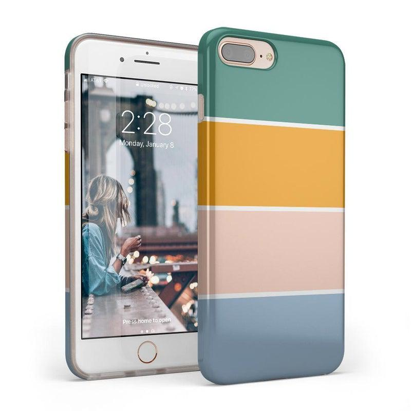 Paint The Town | Colorblock Stripes Case iPhone Case get.casely Classic iPhone 8 Plus