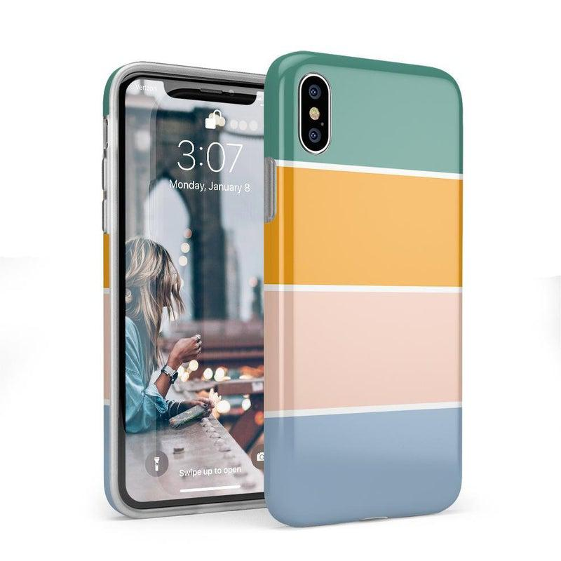 Paint The Town | Colorblock Stripes Case iPhone Case get.casely Classic iPhone X / XS