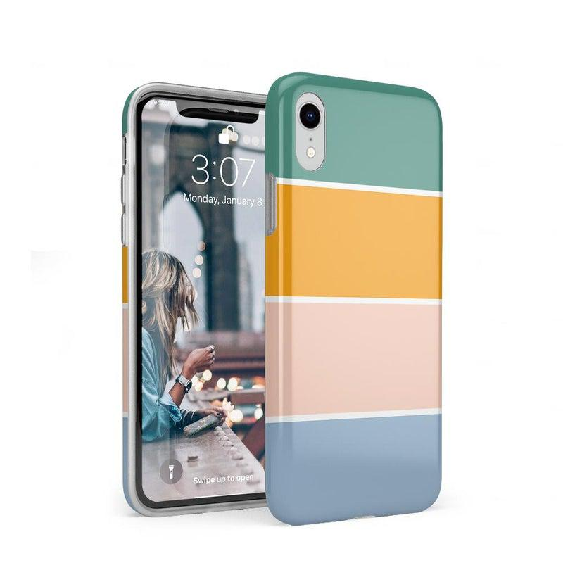 Paint The Town | Colorblock Stripes Case iPhone Case get.casely Classic iPhone XR