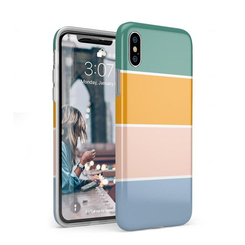 Paint The Town | Colorblock Stripes Case iPhone Case get.casely Classic iPhone XS Max
