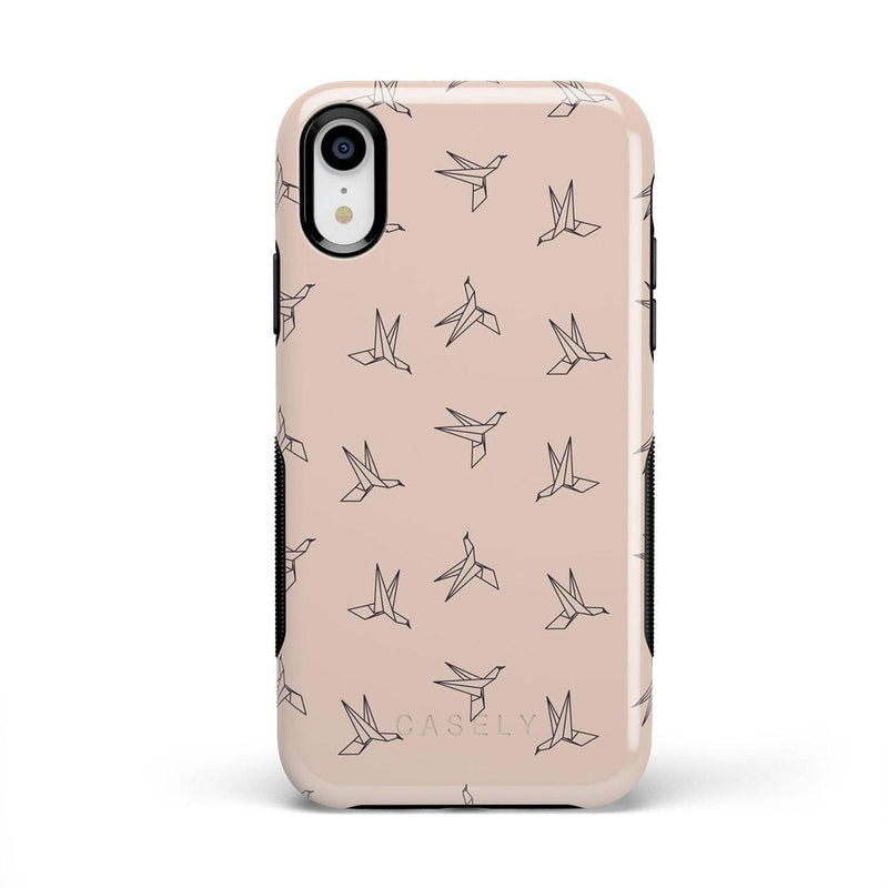 Paper Crane Origami iPhone Case iPhone Case Get.Casely Bold iPhone XR