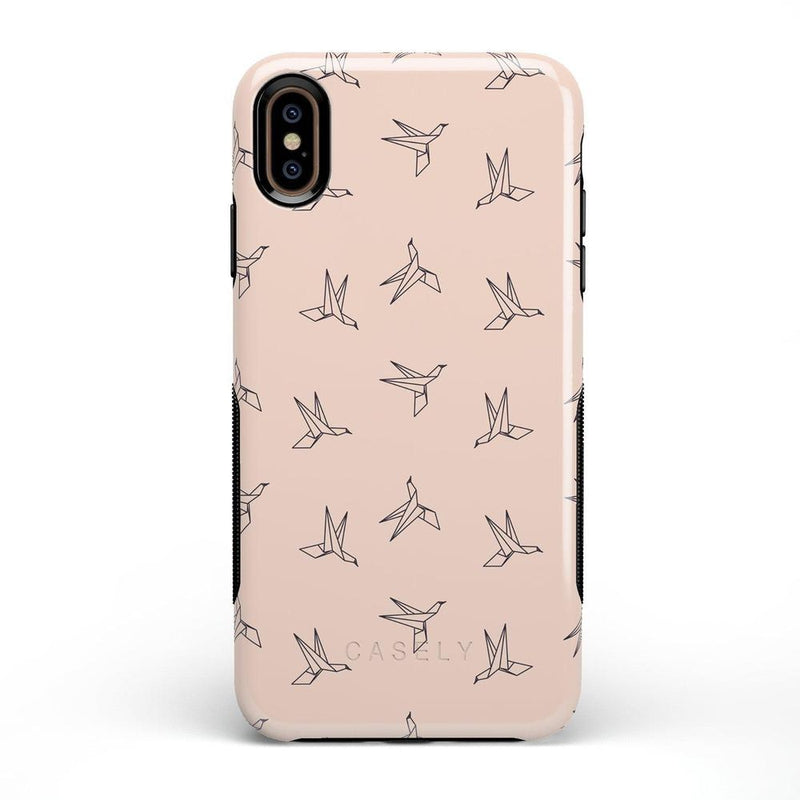Paper Crane Origami iPhone Case iPhone Case Get.Casely Bold iPhone XS Max
