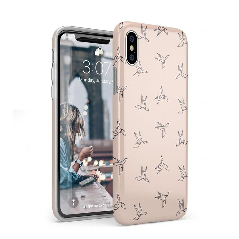 Paper Crane Origami iPhone Case iPhone Case Get.Casely Classic iPhone XS Max