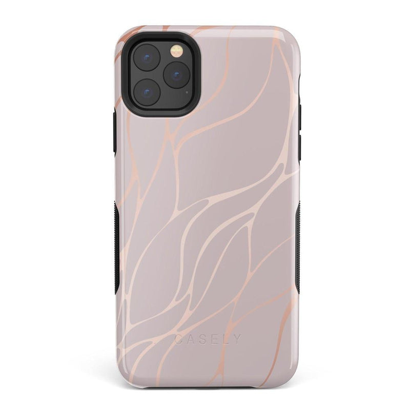 Pink and Gold Metallic Waves Case iPhone Case get.casely Bold iPhone 11 Pro