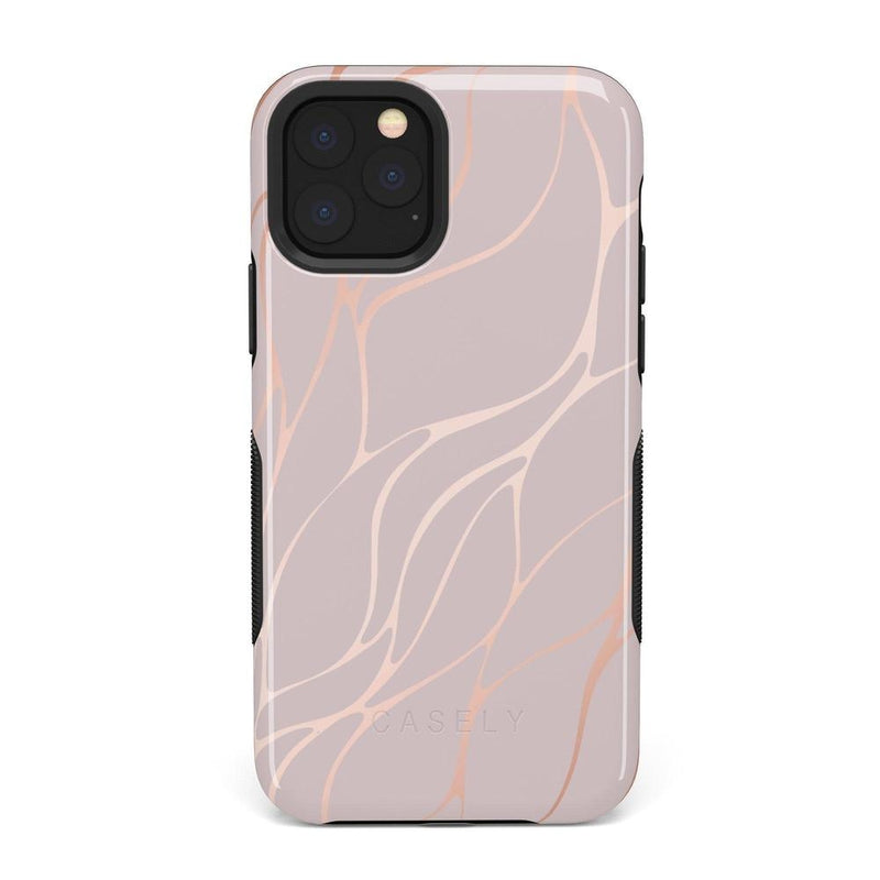 Pink and Gold Metallic Waves Case iPhone Case get.casely Bold iPhone 11 Pro Max