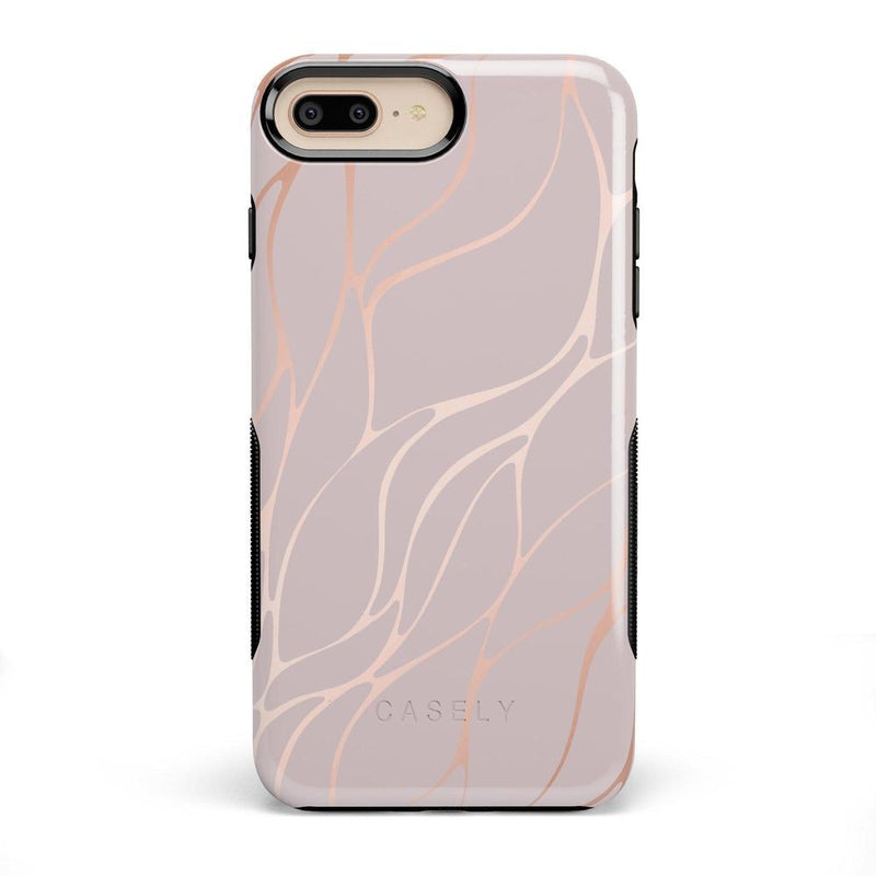 Pink and Gold Metallic Waves Case iPhone Case get.casely Classic iPhone 8 Plus