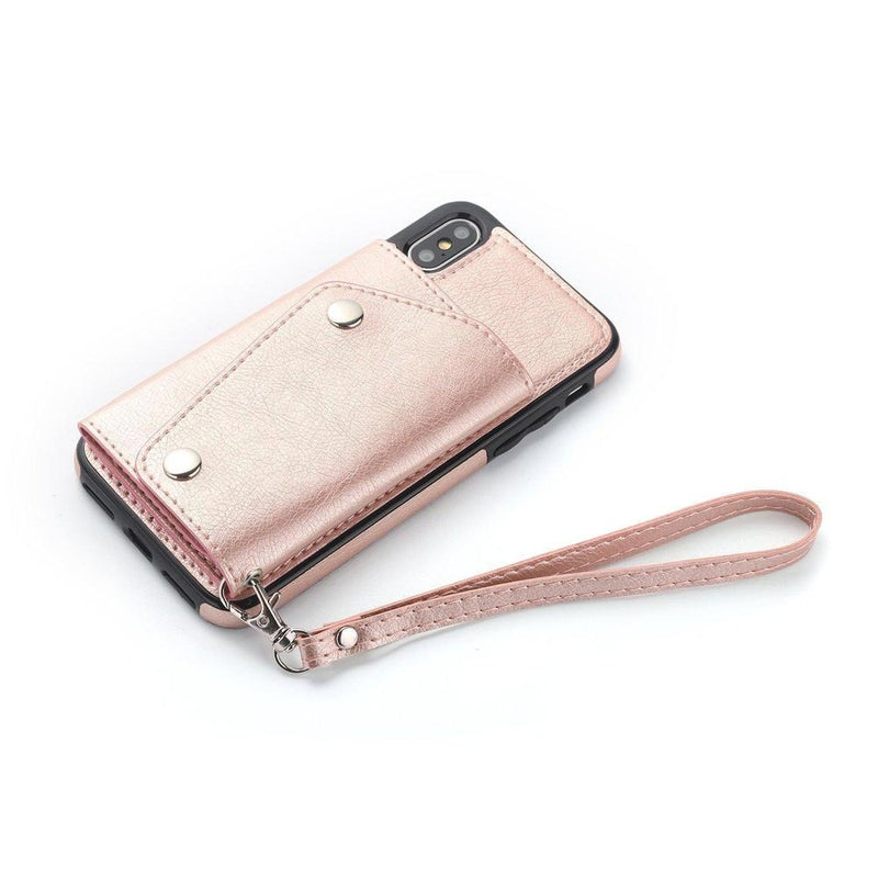 Pink Leather Wallet Case iPhone Case get.casely