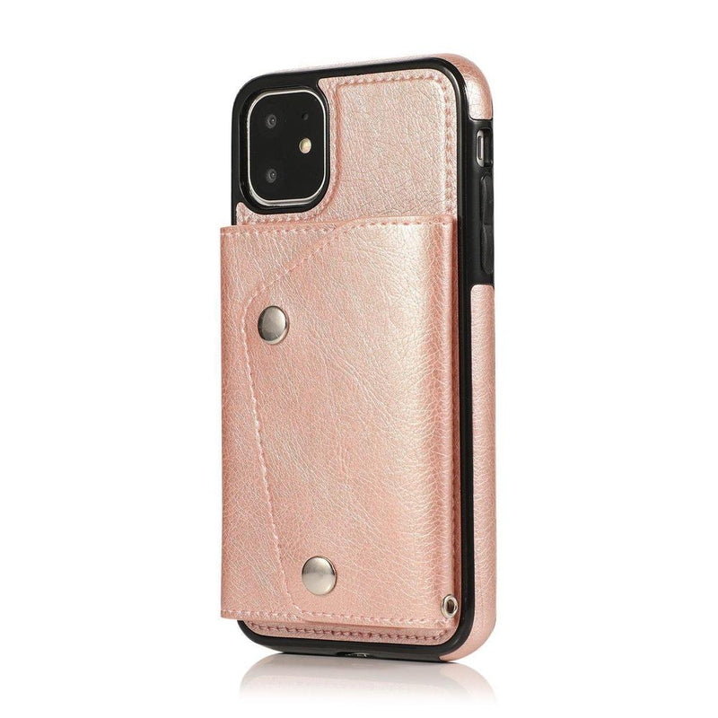 Pink Leather Wallet Case iPhone Case get.casely iPhone 11
