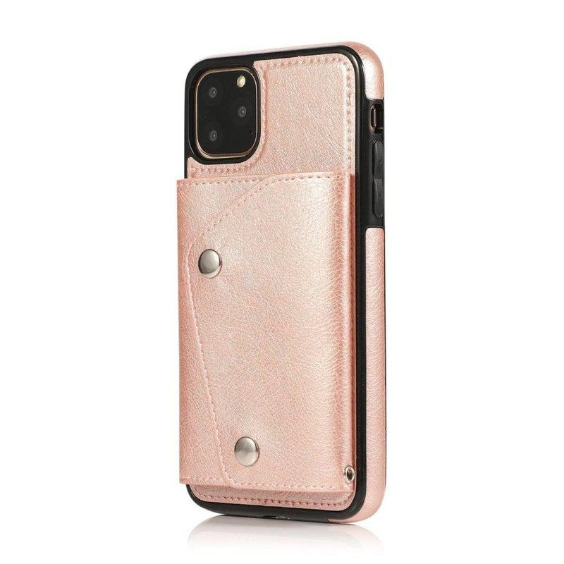 Pink Leather Wallet Case iPhone Case get.casely iPhone 11 Pro