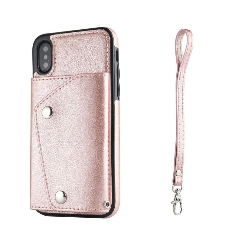 Pink Leather Wallet Case iPhone Case get.casely iPhone X / XS