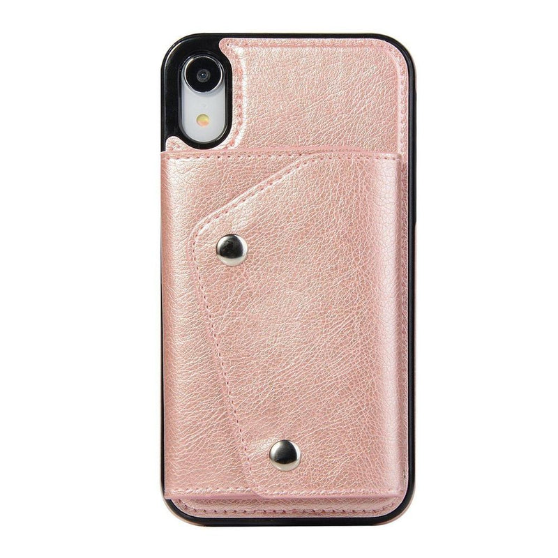 Pink Leather Wallet Case iPhone Case get.casely iPhone XR