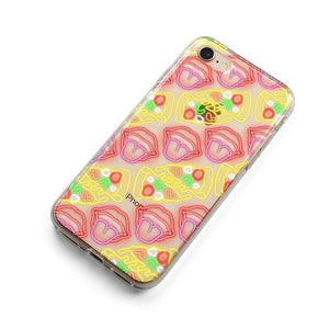 Pizza and Lips Clear Case iPhone Case Get.Casely