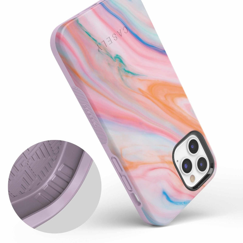 Rainbow Marble Swirl iPhone Case iPhone Case get.casely