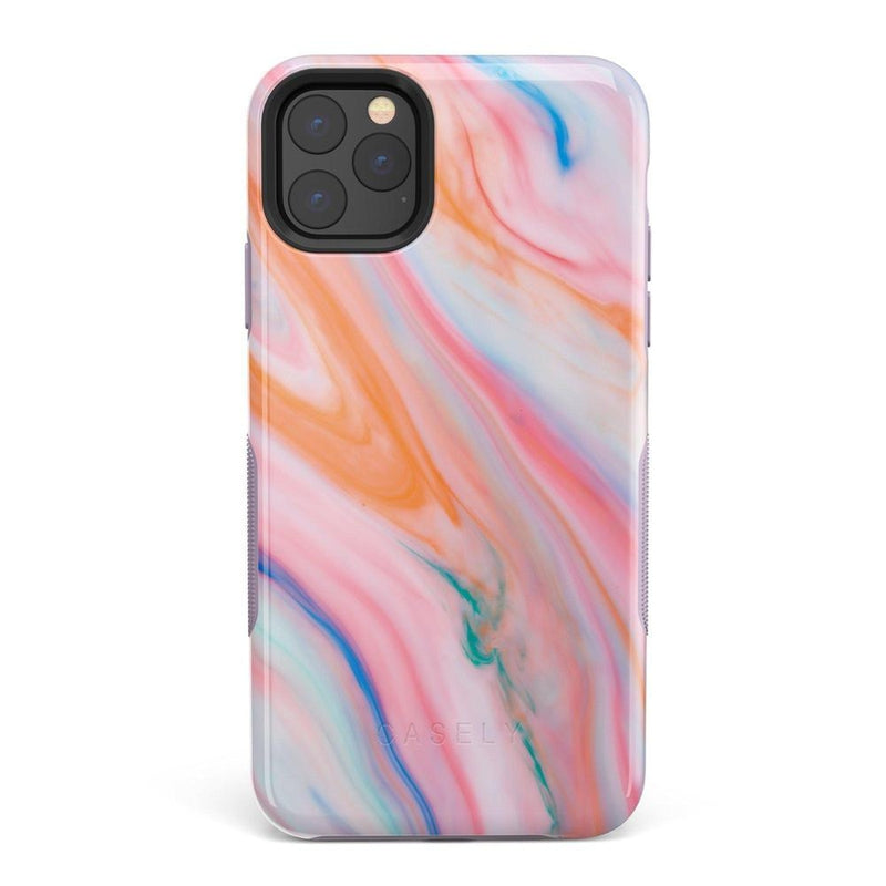 Rainbow Marble Swirl iPhone Case iPhone Case Get.Casely Bold iPhone 11 Pro