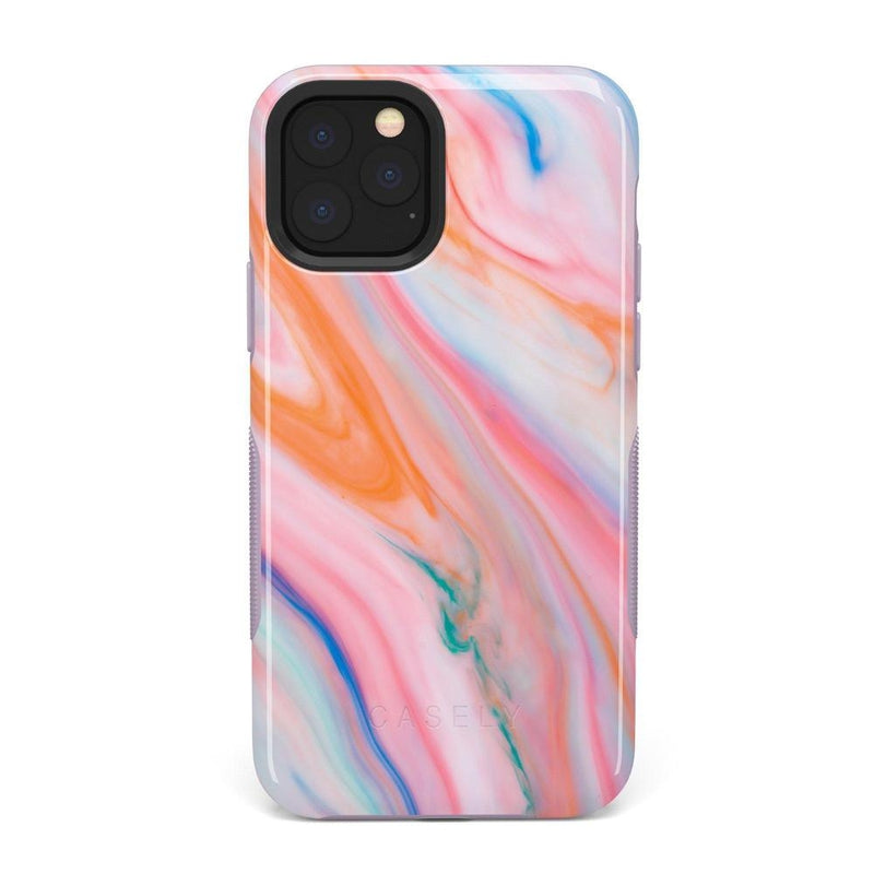 Rainbow Marble Swirl iPhone Case iPhone Case Get.Casely Bold iPhone 11 Pro Max