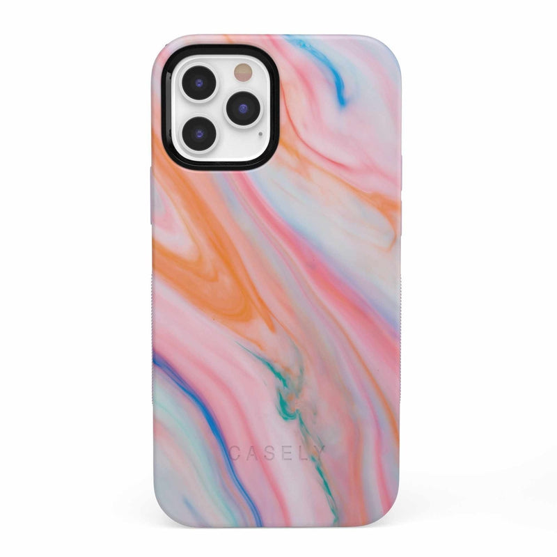 Rainbow Marble Swirl iPhone Case iPhone Case get.casely Bold iPhone 12 Pro