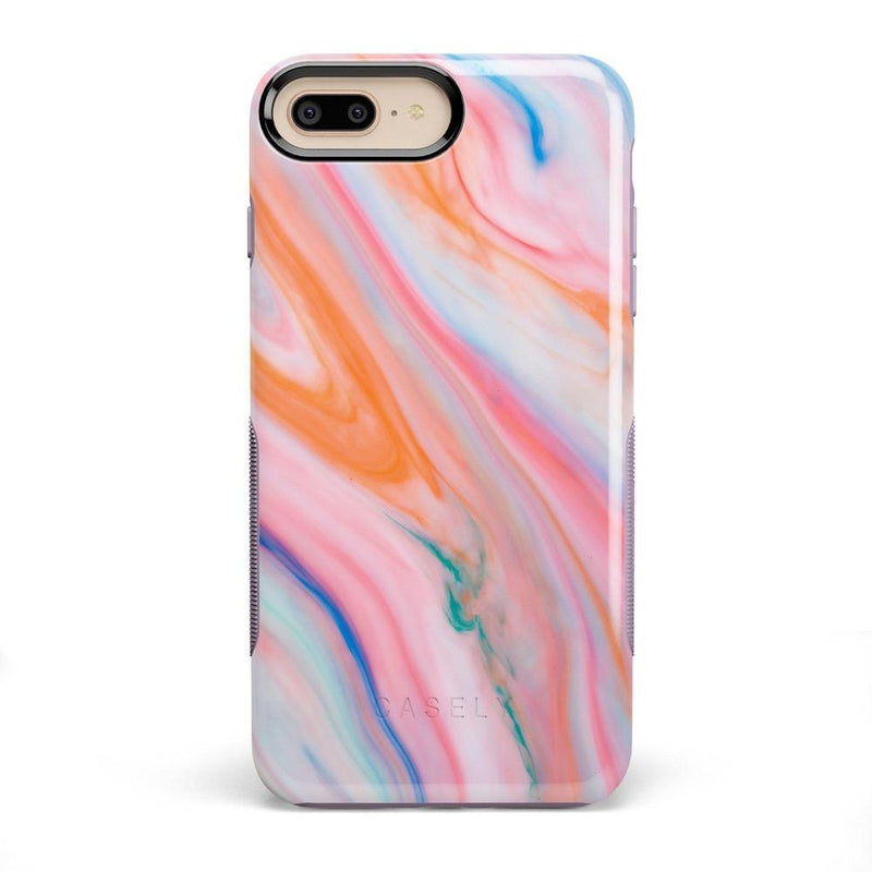 Rainbow Marble Swirl iPhone Case iPhone Case Get.Casely Bold iPhone 8 Plus