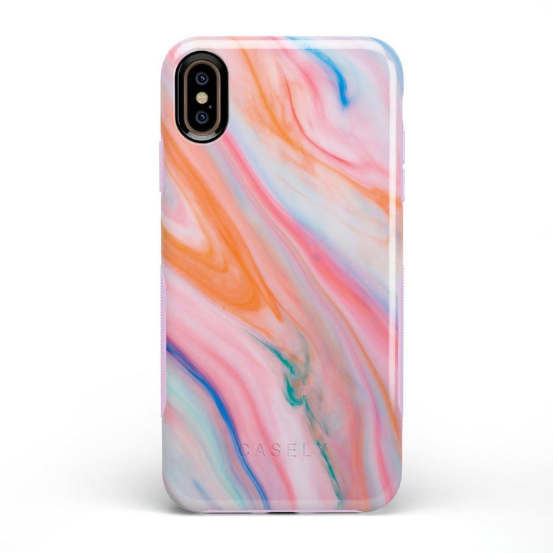 Rainbow Marble Swirl iPhone Case iPhone Case Get.Casely Bold iPhone XS Max