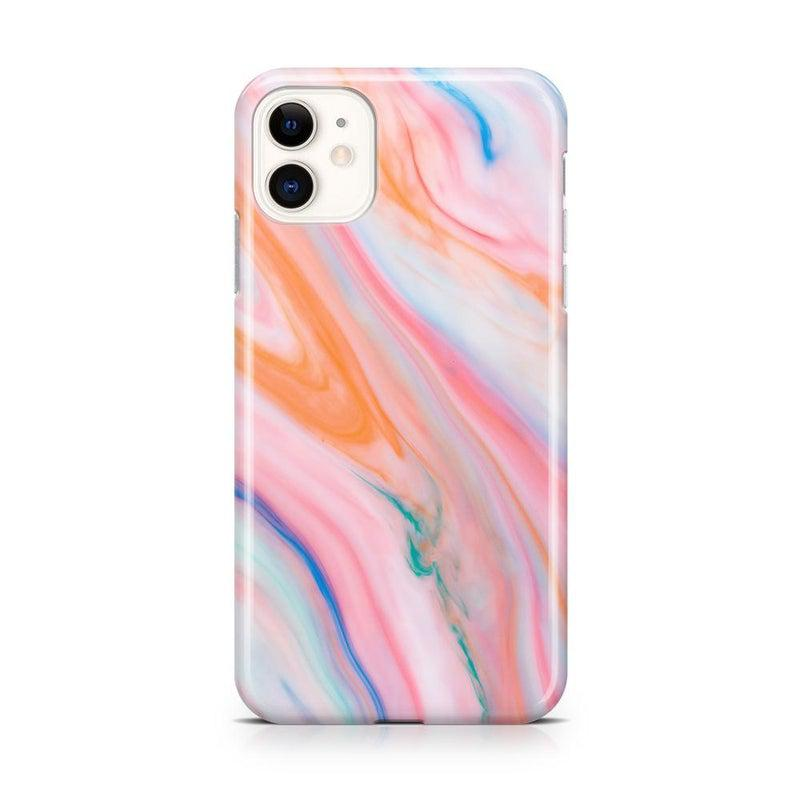 Rainbow Marble Swirl iPhone Case iPhone Case Get.Casely Classic iPhone 11