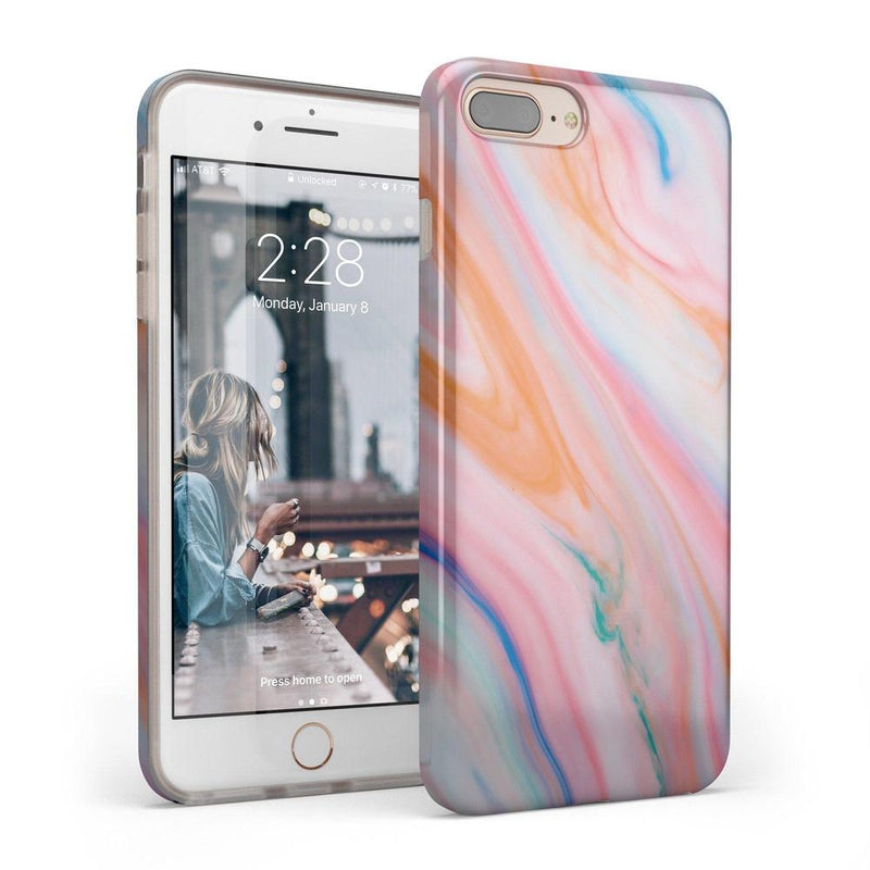 Rainbow Marble Swirl iPhone Case iPhone Case Get.Casely Classic iPhone 6/6s Plus