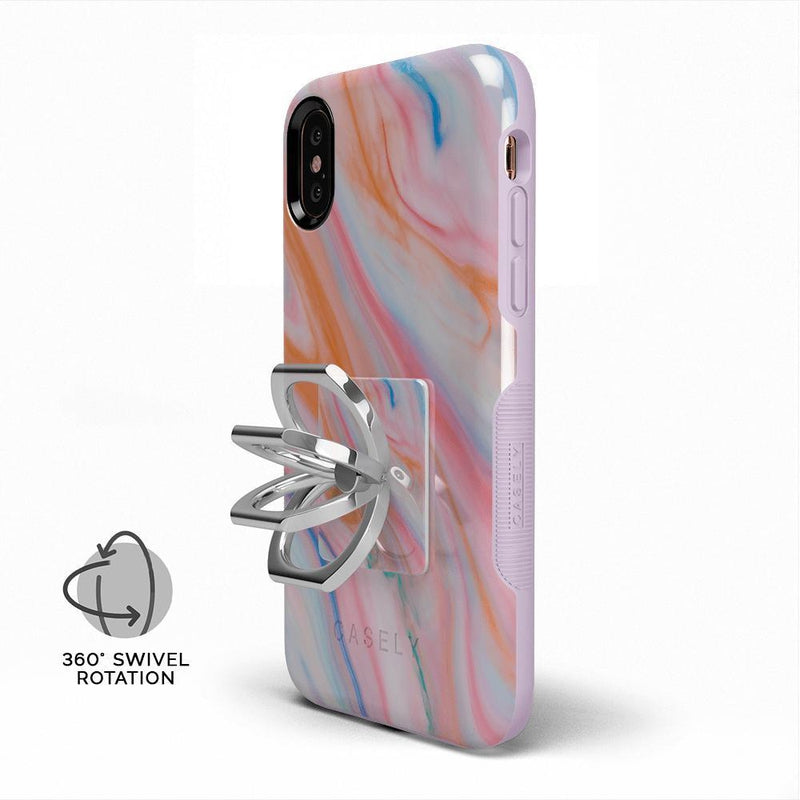Rainbow Marble Swirl Phone Ring Phone Ring get.casely