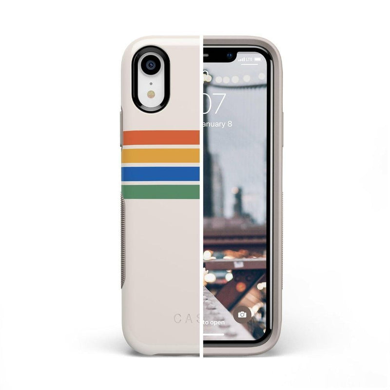Rainbow Stripes Color Block Case iPhone Case Get.Casely