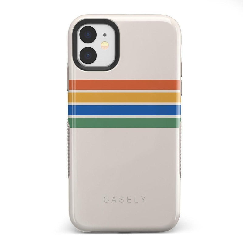 Rainbow Stripes Color Block Case iPhone Case Get.Casely Bold iPhone 11