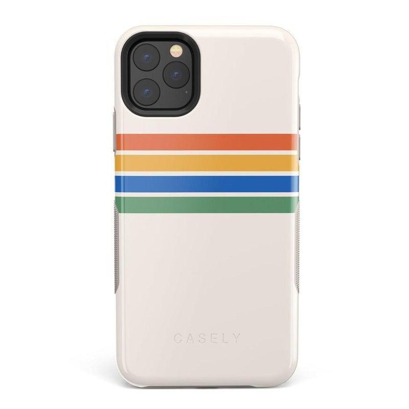 Rainbow Stripes Color Block Case iPhone Case Get.Casely Bold iPhone 11 Pro