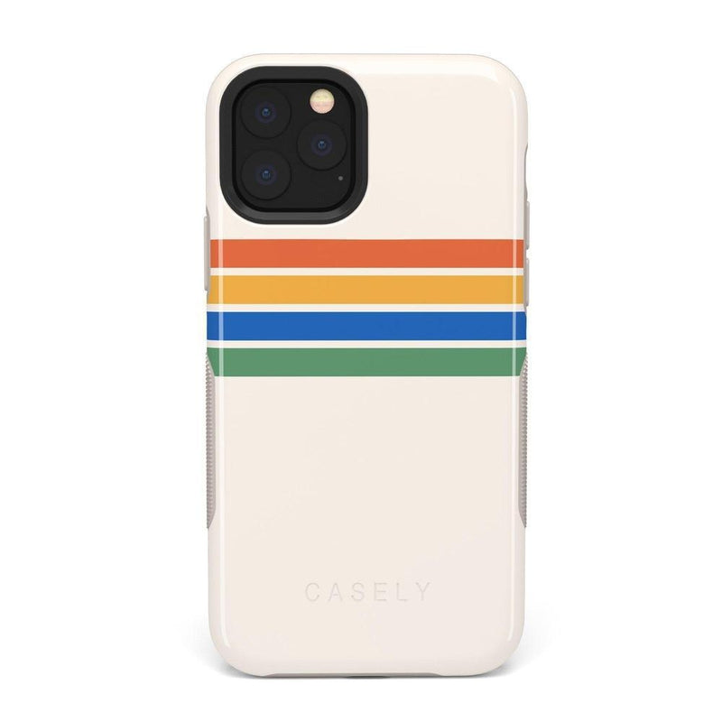 Rainbow Stripes Color Block Case iPhone Case Get.Casely Bold iPhone 11 Pro Max