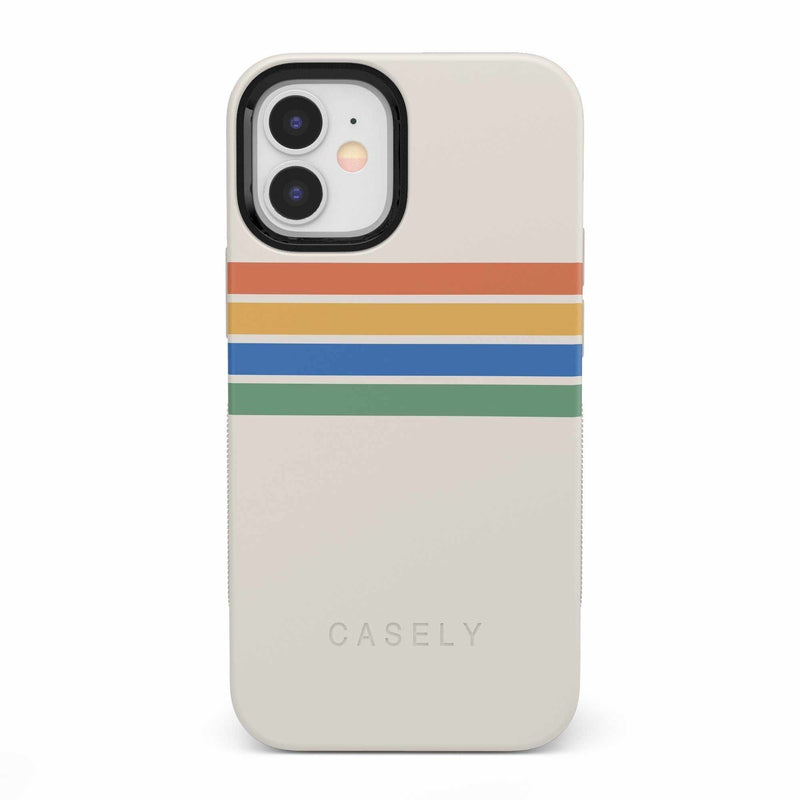 Rainbow Stripes Color Block Case iPhone Case get.casely Bold iPhone 12 Mini