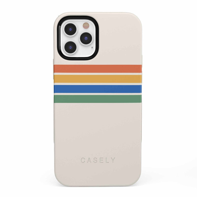 Rainbow Stripes Color Block Case iPhone Case get.casely Bold iPhone 12 Pro