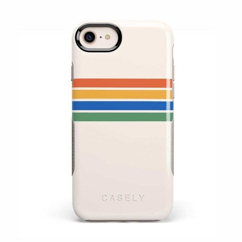 Rainbow Stripes Color Block Case iPhone Case Get.Casely Bold iPhone 8