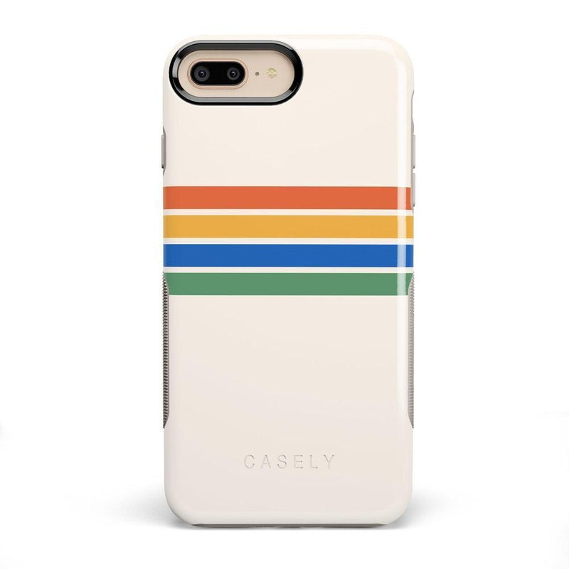 Rainbow Stripes Color Block Case iPhone Case Get.Casely Bold iPhone 8 Plus
