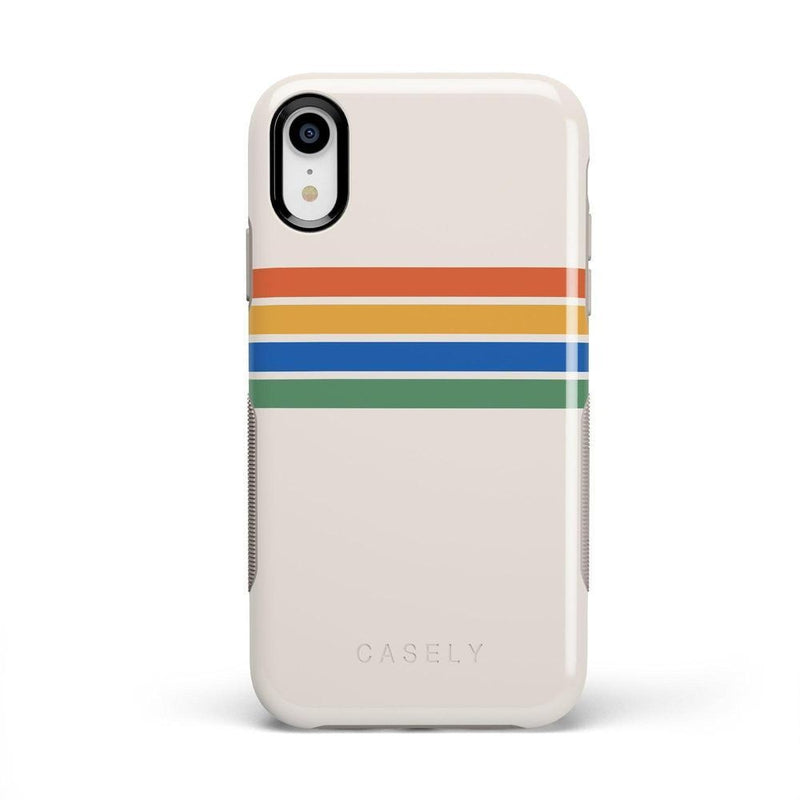 Rainbow Stripes Color Block Case iPhone Case Get.Casely Bold iPhone XR