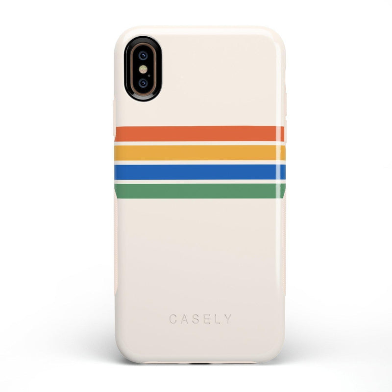 Rainbow Stripes Color Block Case iPhone Case Get.Casely Bold iPhone XS Max