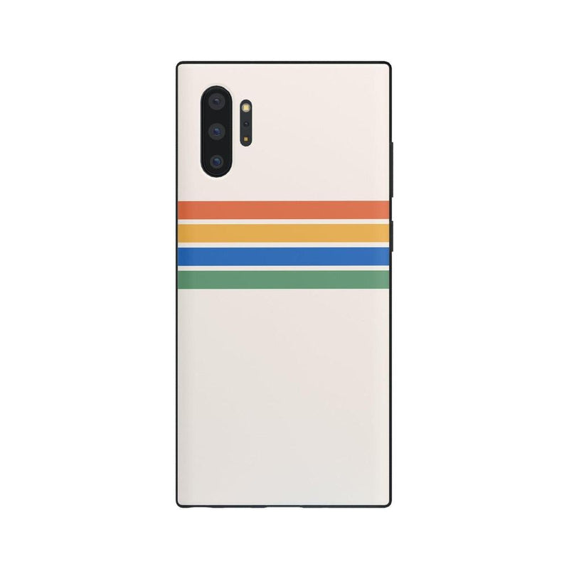 Rainbow Stripes Color Block Case iPhone Case Get.Casely Classic Galaxy Note 10 Plus