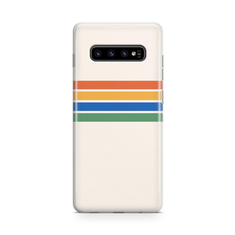 Rainbow Stripes Color Block Case iPhone Case Get.Casely Classic Galaxy S10
